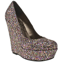 Something for the Weekend: Princess multi glitter wedge at Schuh