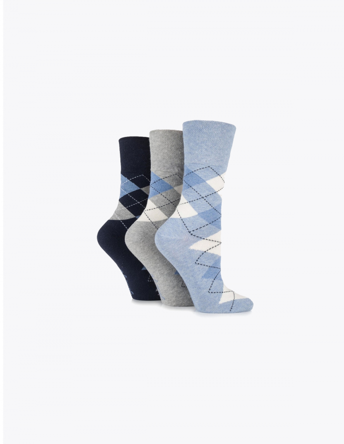 Patterned-gentle-grip-socks