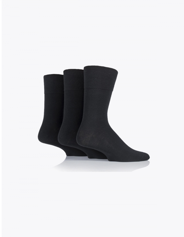 plain-black-diabetic-socks