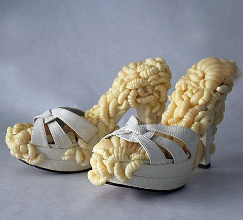 Ugly Shoe of the Week: Maggot heels