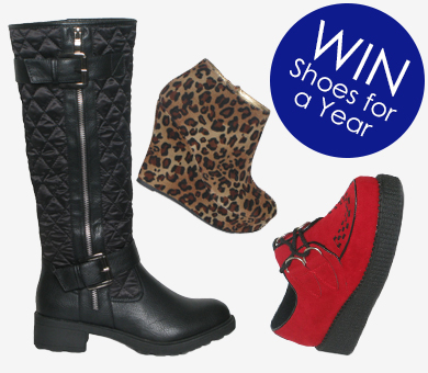WIN a year's supply of shoes with Shoe Zone!