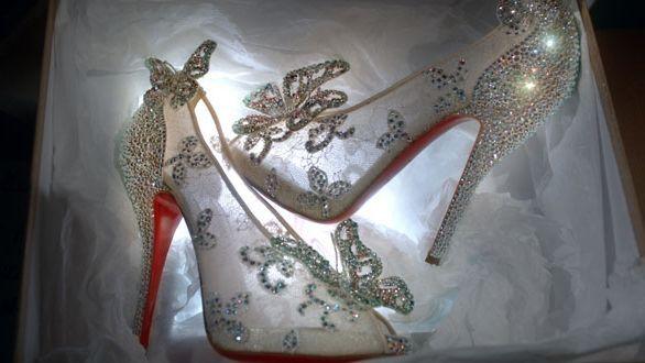 Christian Louboutin designs Disney glass slipper